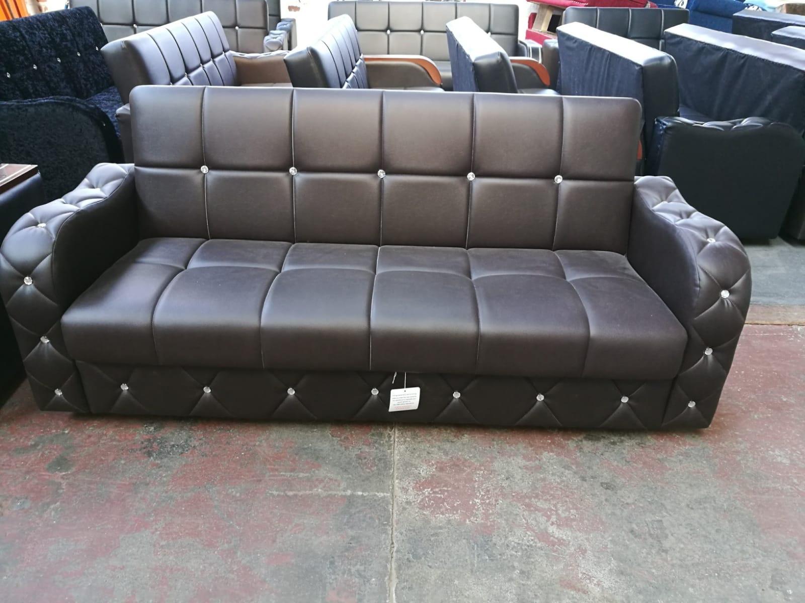 Turkish sofa bed in leather   MI Furniture